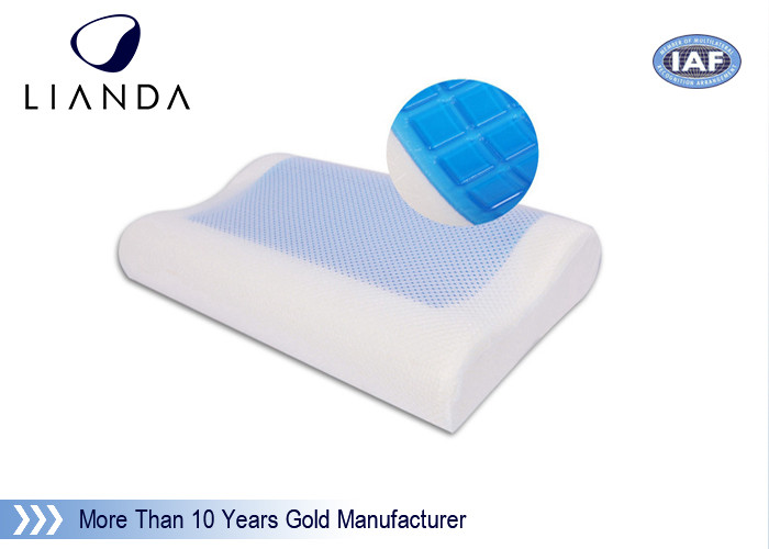 White / Blue Memory Foam Pillows With Standard Size 50kgs / m3