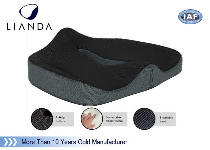 Hemorrhoid Memory Foam Seat Cushion , Medically Recommendedd Coccyx Cushion For Hemorhoid Patients