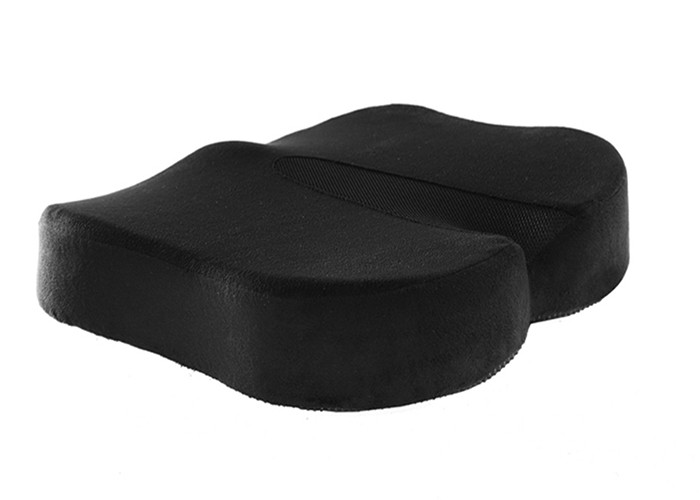 Black Orthopedic Car Seat Cushion Memory Foam With Zippered Washable Cover